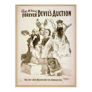 Die Auktion des Teufels Postkarte