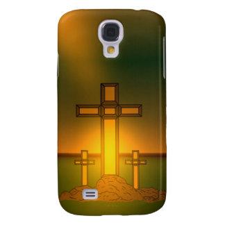 Die Aura-Licht des Gottes über dem Kreuz von Galaxy S4 Hülle