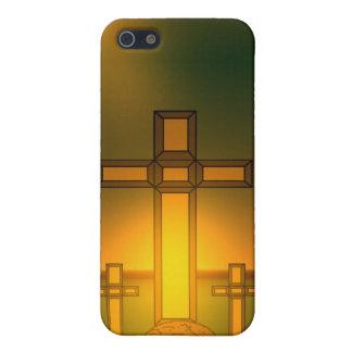 Die Aura-Licht des Gottes über dem Kreuz von iPhone 5 Schutzhülle