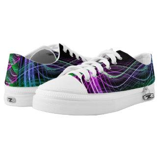 Die Aurora-Wind-Galaxie-Universum-Turnschuhe Niedrig-geschnittene Sneaker