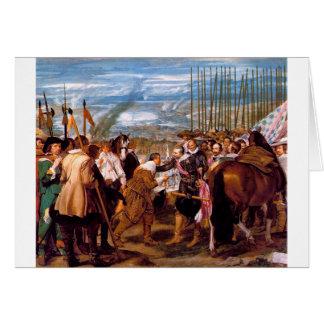 Die Auslieferung von Breda durch Diego Velazquez Karte