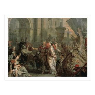 Die Ausschiffung von Kleopatra am Tarsus (Öl an Postkarte