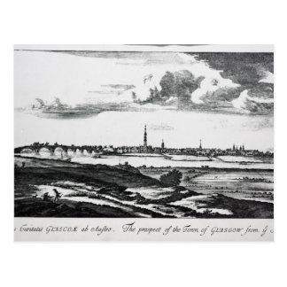 Die Aussicht der Stadt von Glasgow Postkarte