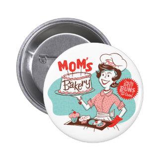 Die Bäckerei-Retro Knopf der Mammas - rund Runder Button 5,7 Cm