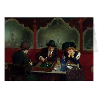 Die backgammon-Spieler Karte