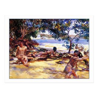 Die Badegäste durch John Singer Sargent Postkarte