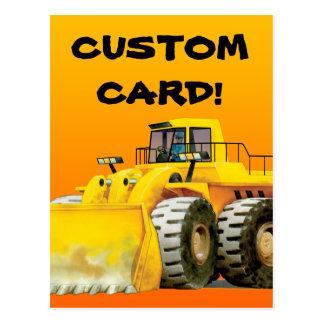 Die Baggerpostkarte des kundenspezifisches Kindes Postkarte