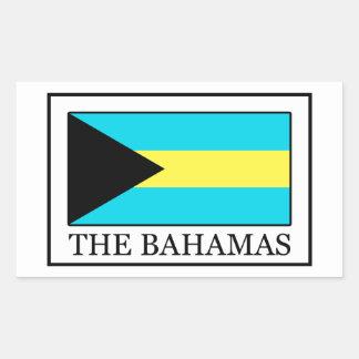 Die Bahamas Rechteckiger Aufkleber