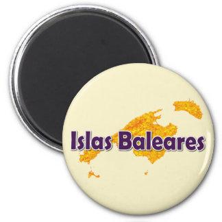 Die Balearischen Inseln Runder Magnet 5,1 Cm