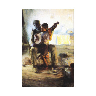 Die Banjo-Lektion Leinwanddruck