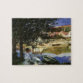 Die Bank der Seines, Bennecourt durch Claude Monet Puzzle