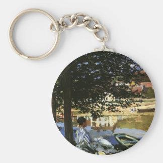 Die Bank der Seines, Bennecourt durch Claude Monet Schlüsselanhänger