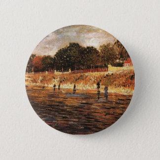 Die Banken der Seines, Vincent van Gogh Runder Button 5,1 Cm