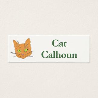 Die Bärte der Katze Mini Visitenkarte