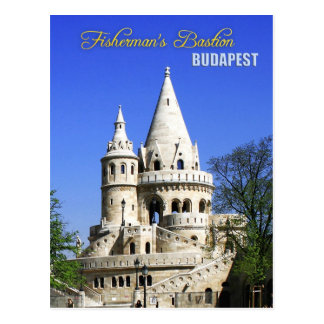 Die Bastion des Fischers, Schloss-Bezirk, Budapest Postkarte