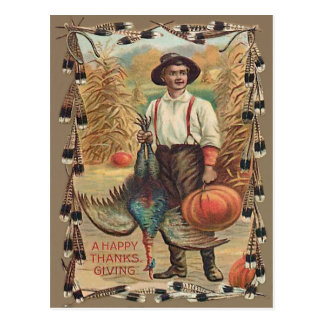 Die Bauers-Türkei-Kürbis-Mais-Schock-Federn Postkarte