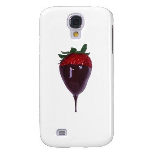 Die bedeckte Schokolade tauchte Erdbeere ein Galaxy S4 Hülle