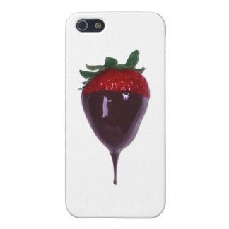 Die bedeckte Schokolade tauchte Erdbeere ein iPhone 5 Hülle