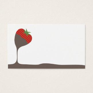 die bedeckte Schokolade tauchte Visitenkarte