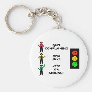 Die beendigte Beschwerde und behalten gerade auf Standard Runder Schlüsselanhänger