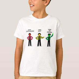 Die beendigte Beschwerde und behalten gerade auf T-Shirt