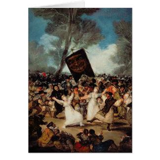 Die Beerdigung der Sardine c.1812-19 Grußkarte