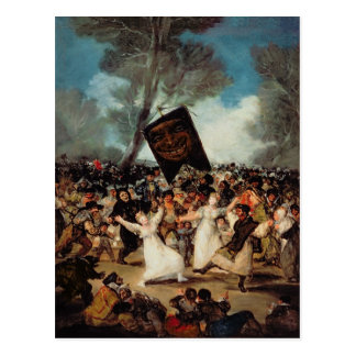 Die Beerdigung der Sardine c.1812-19 Postkarte