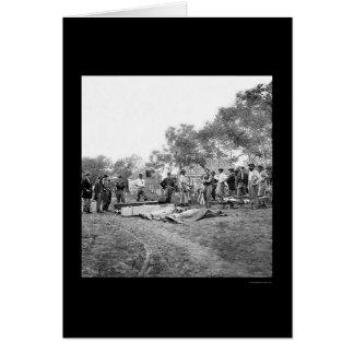 Die Beerdigung der Soldaten bei Fredericksburg, Grußkarte