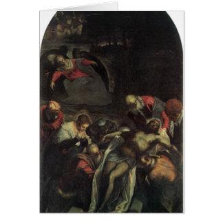 Die Beerdigung durch Tintoretto Karten
