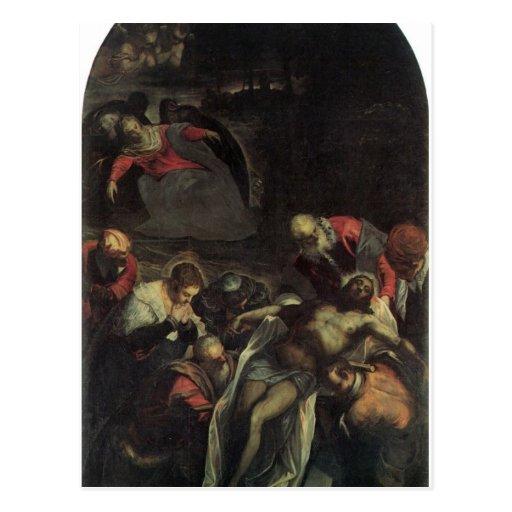Die Beerdigung durch Tintoretto Postkarten