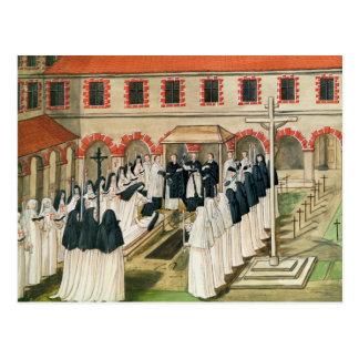 Die Beerdigung einer Nonne, von 'l'Abbaye De Postkarte