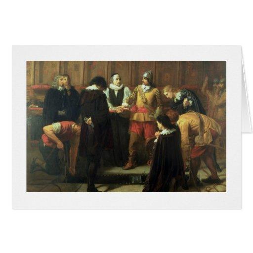 Die Beerdigung von Charles I (1600-49) in St Georg Grußkarten