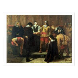 Die Beerdigung von Charles I 1600-49 in St Georg Postkarte