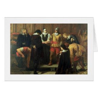 Die Beerdigung von Charles I (1600-49) in St Grußkarte