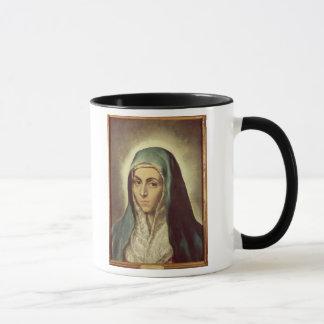 Die beklagende Jungfrau (Öl auf Leinwand) Tasse