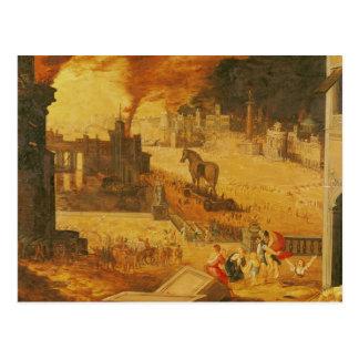 Die Belagerung von Troja Postkarte