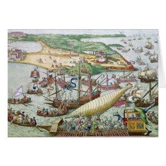 Die Belagerung von Tunis oder von La Goulette Karte