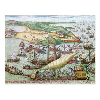 Die Belagerung von Tunis oder von La Goulette Postkarte