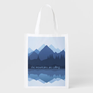 Die Berge nennen… Entwurf wiederverwendbare Tasche Wiederverwendbare Einkaufstasche