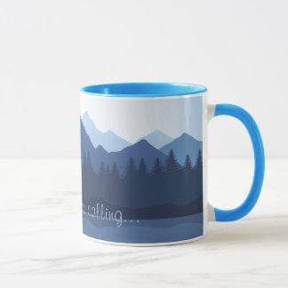 Die Berge nennen Entwurfs-Kaffee-Tasse Tasse