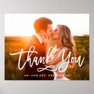 Die beschriftete Chic-Hand danken Ihnen Foto Poster