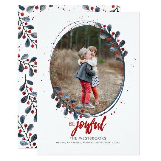 Die beschriftete Hand ist frohes Feiertags-Foto 12,7 X 17,8 Cm Einladungskarte
