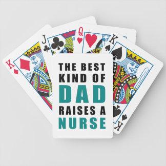 die beste Art des Vatis hebt eine Krankenschwester Bicycle Spielkarten