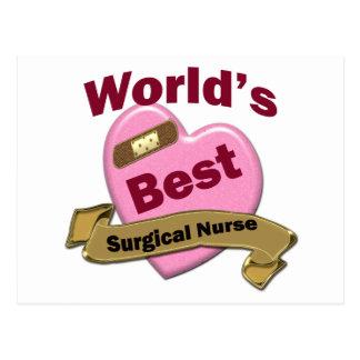 Die beste chirurgische Krankenschwester der Welt Postkarte