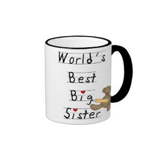 Die beste große Schwester der Welt Ringer Tasse