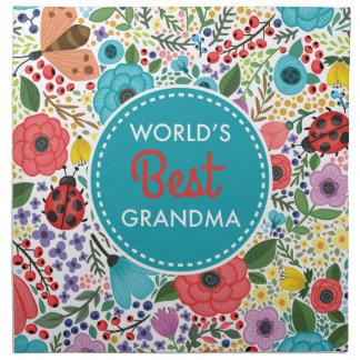 Die beste Großmutter der Welt Stoffserviette