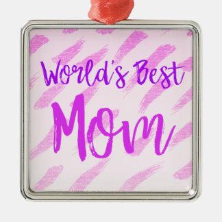 Die beste Mamma der Welt Quadratisches Silberfarbenes Ornament