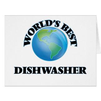 Die beste Spülmaschine der Welt Riesige Grußkarte