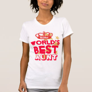 Die beste TANTE rote Krone und Sterne V07 der Welt T-Shirt