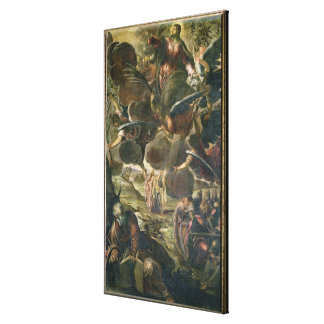 Die Besteigung von Christus (Fresko) Gespannter Galerie Druck